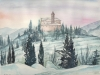Il Monticino sotto la neve (acquerello) 30x40