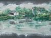 Riflessi di un paesaggio cinese (olio su tela e sabbia) 35x60