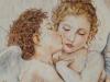 Amore e Psiche (pastello a olio su carta) 90x80