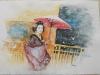 Geisha (acquerello) 30x40